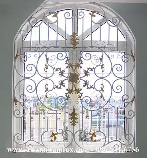 Mẫu hoa cửa sổ sắt nghệ thuật đẹp