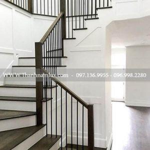 Mẫu cầu thang sắt đẹp tại thái nguyên ảnh 2