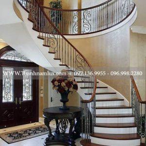 Cầu thang sắt mỹ thuật đẹp tại thái nguyên ảnh 4