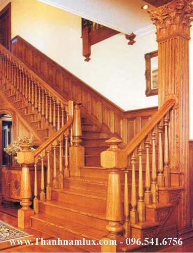 Mẫu cầu thang gỗ đẹp MS10