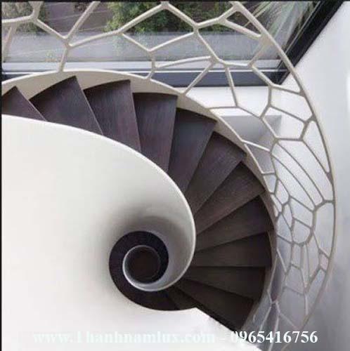 Mẫu cầu thang xoắn ốc đẹp tại bắc giang