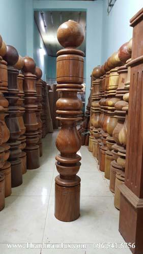 mẫu trụ cái đẹp, trụ gỗ lục lăng