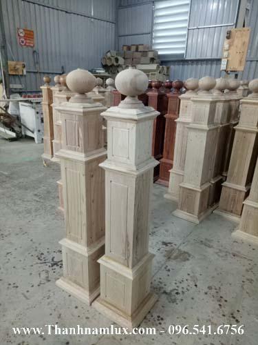 trụ gỗ vuông, trụ gỗ cầu thang đẹp